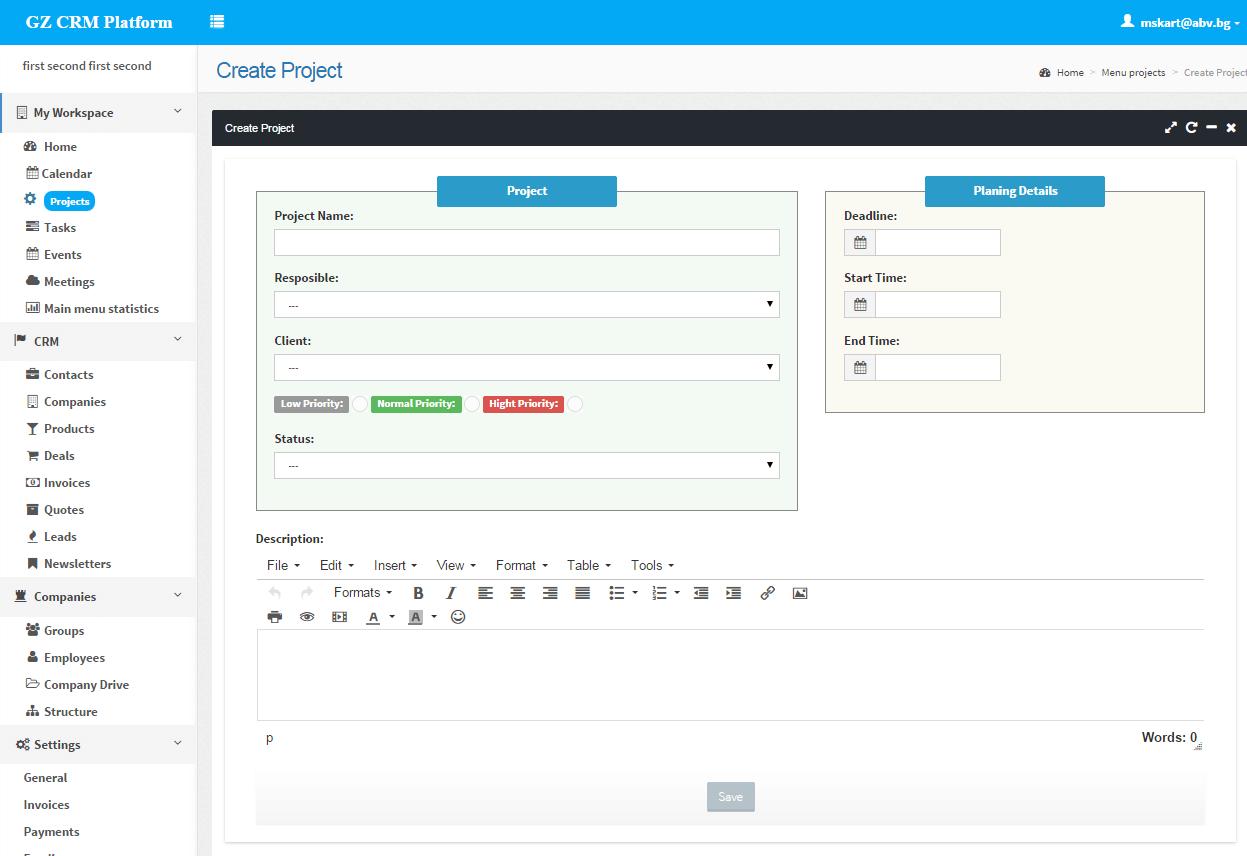 PHP CRM Platform